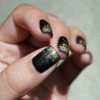 Glitter gradient noir et or