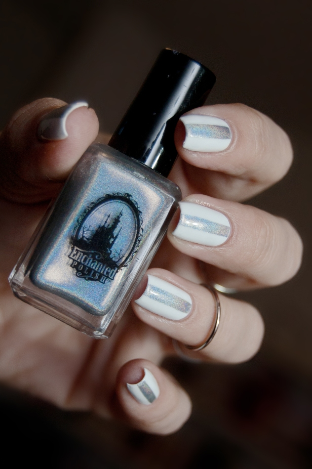 WHITE AND HOLO STRIPE LD_08