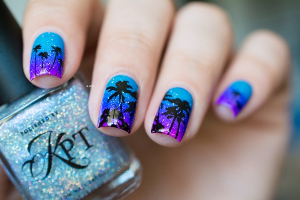 POLISHED BY KPT_GRADIENT STAMPING TROPICAL LD_05